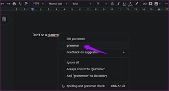 Riješite provjeru pravopisa u Google dokumentima 9