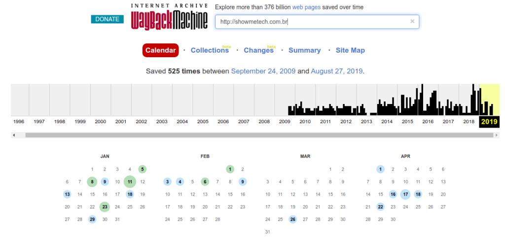 Stranica vam čak omogućuje pregled čitavog kalendara mjesta koje tražite.