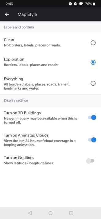 Animirana 24-satna oblaka dolaze u Google Earth na Androidu [APK Download] 1