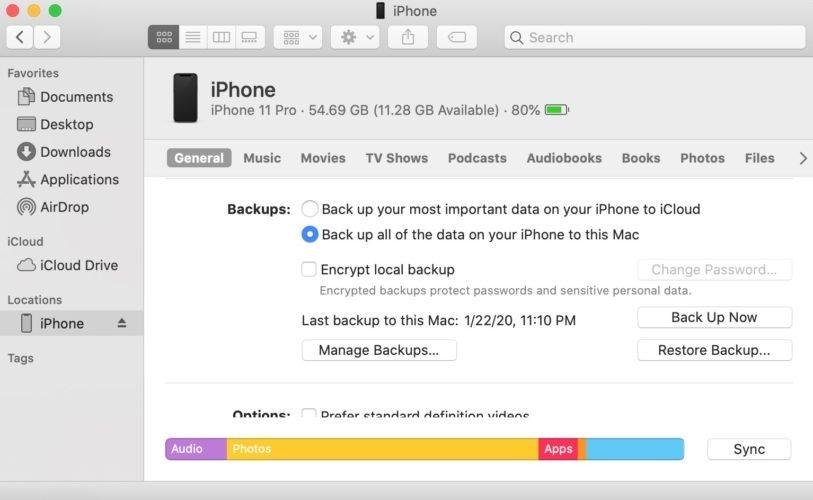 izradite sigurnosnu kopiju iphonea u tražilici