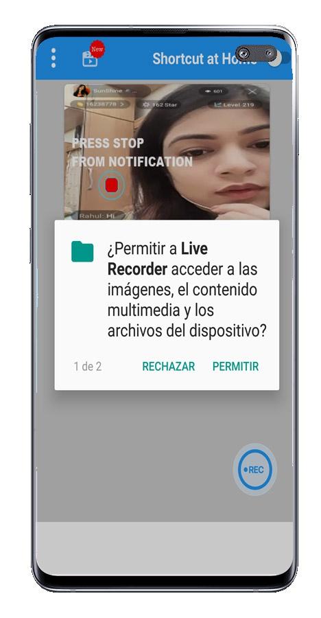 Dozvole Live recorder - Snimaj uživo zaslon sa zvukom