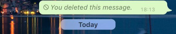 izbriši WhatsApp poruku