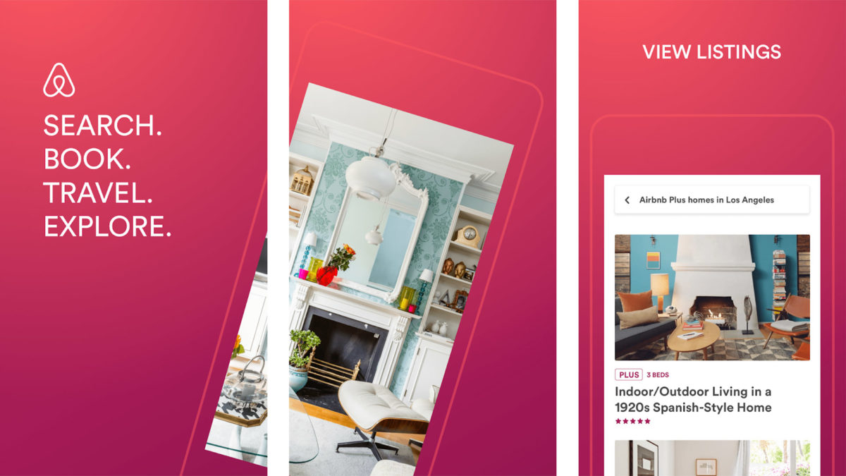 Airbnb snimka zaslona 2020