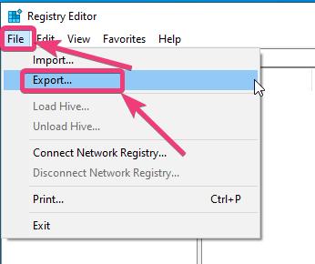 Izrada sigurnosne kopije i vraćanje Windows 10 registra