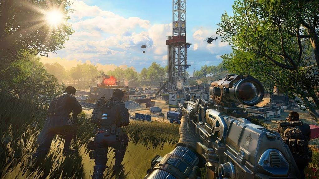 Black Ops 4, izvadak iz promotivne prikolice battle royale, prikazuje dio karte