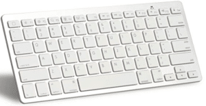 Mini tipkovnica u bijeloj boji.